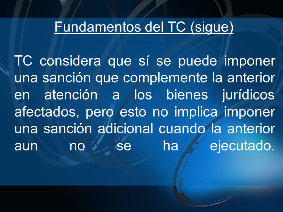 Fundamentos del TC (sigue)