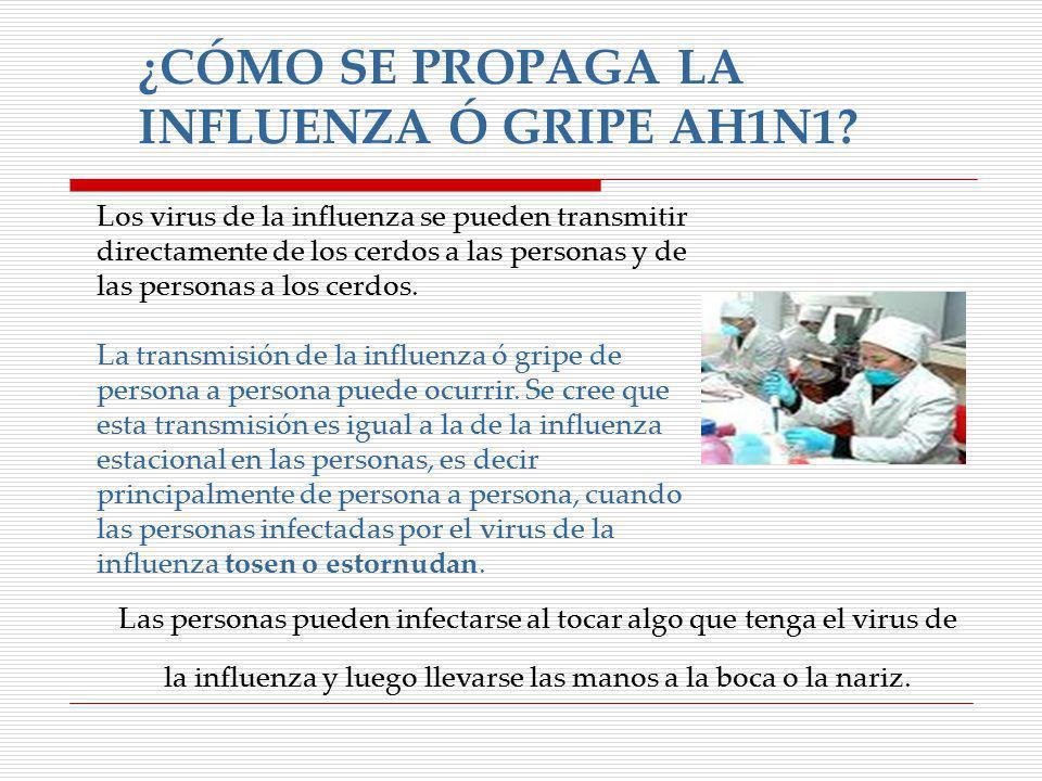 ¿CÓMO SE PROPAGA LA INFLUENZA Ó GRIPE AH1N1