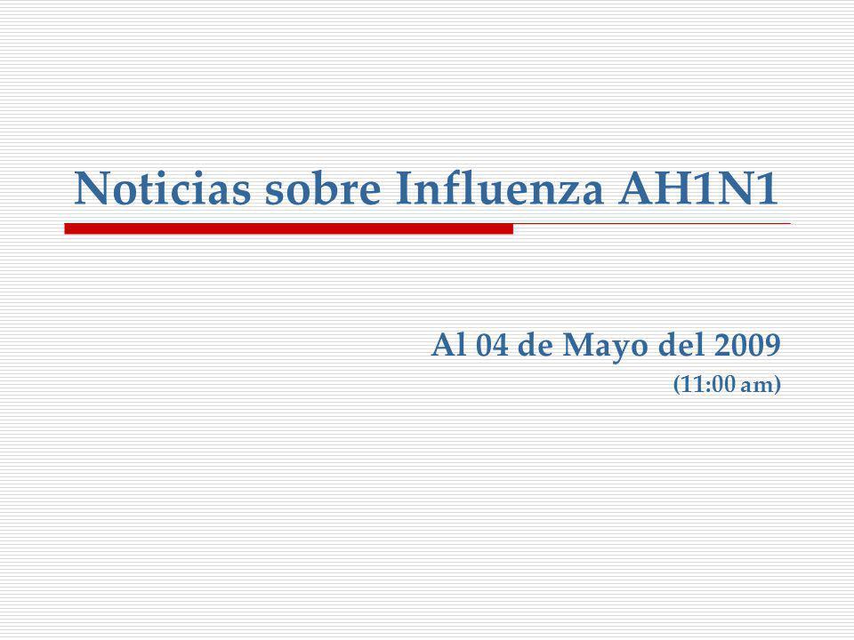 Noticias sobre Influenza AH1N1