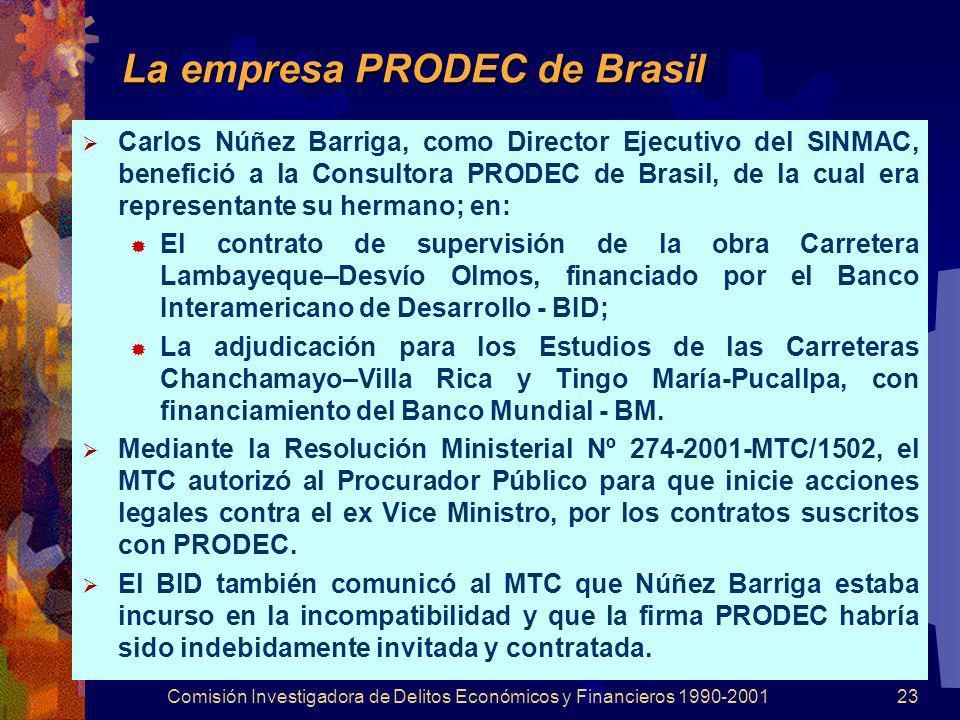 La empresa PRODEC de Brasil