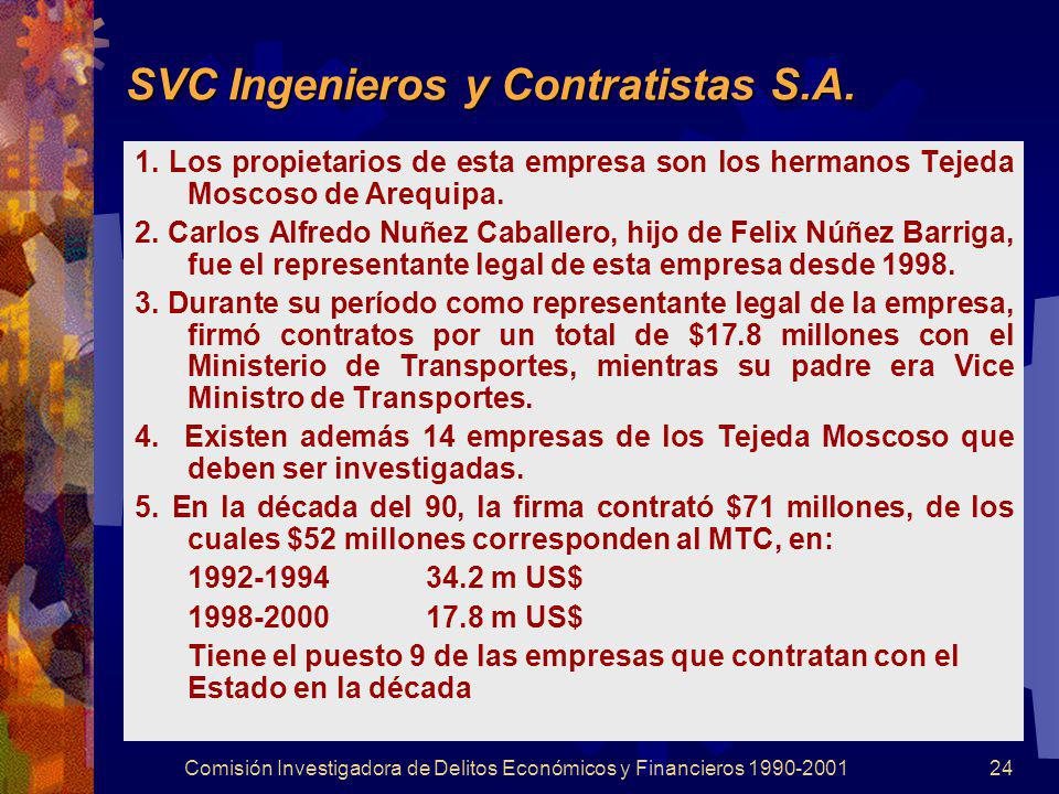 SVC Ingenieros y Contratistas S.A.