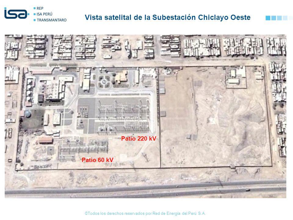 Vista satelital de la Subestación Chiclayo Oeste