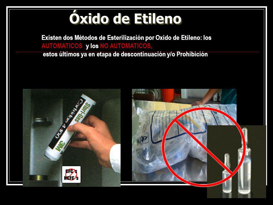 Óxido de Etileno Existen dos Métodos de Esterilización por Oxido de Etileno: los AUTOMATICOS y los NO AUTOMATICOS,