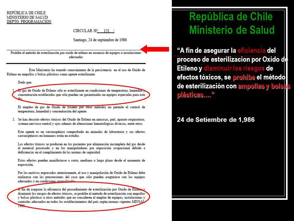 República de Chile Ministerio de Salud
