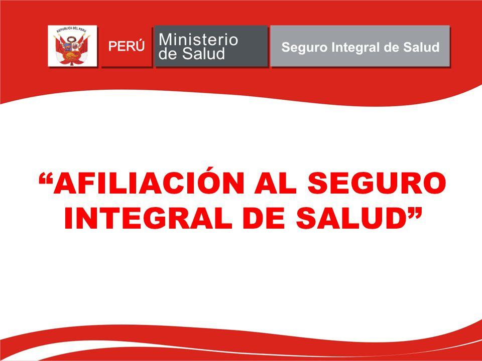 AFILIACIÓN AL SEGURO INTEGRAL DE SALUD