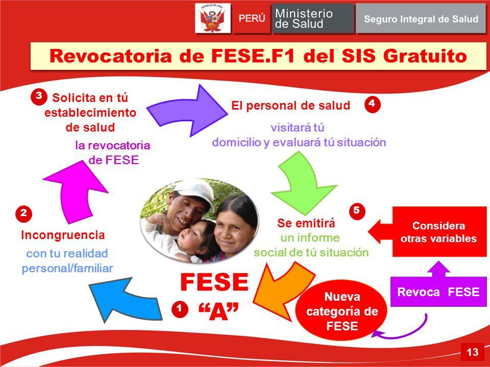 FESE A Revocatoria de FESE.F1 del SIS Gratuito