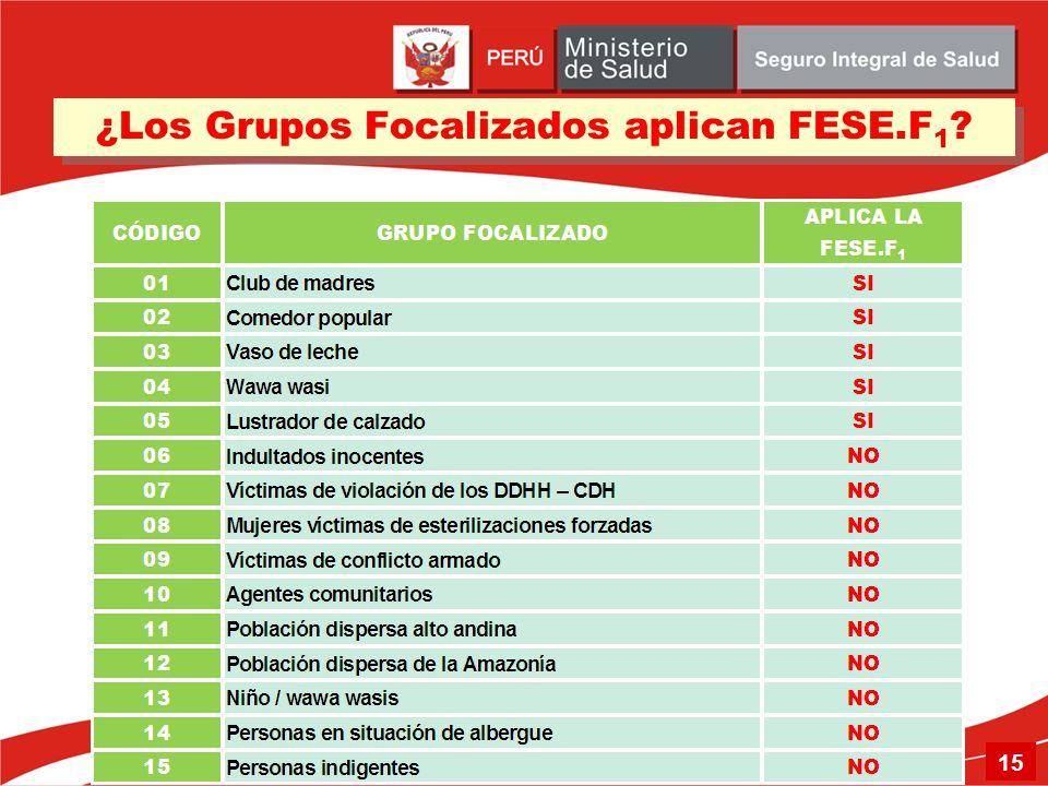 ¿Los Grupos Focalizados aplican FESE.F1