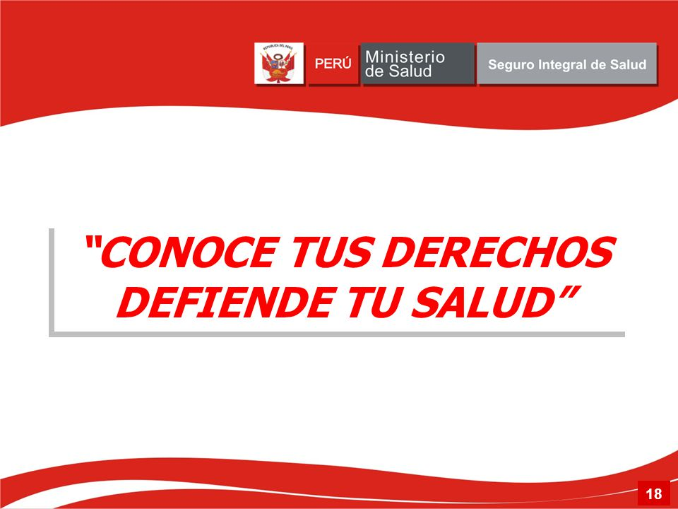 CONOCE TUS DERECHOS DEFIENDE TU SALUD