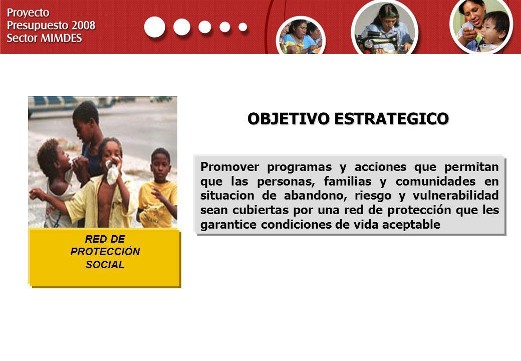 RED DE PROTECCIÓN. SOCIAL. OBJETIVO ESTRATEGICO.