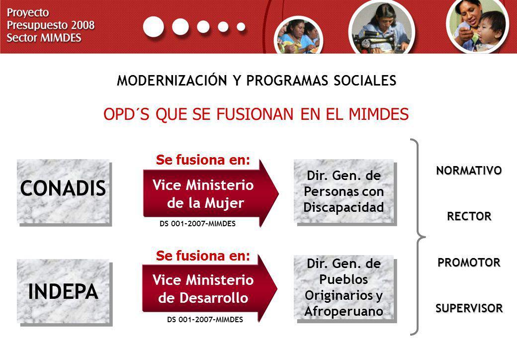 MODERNIZACIÓN Y PROGRAMAS SOCIALES