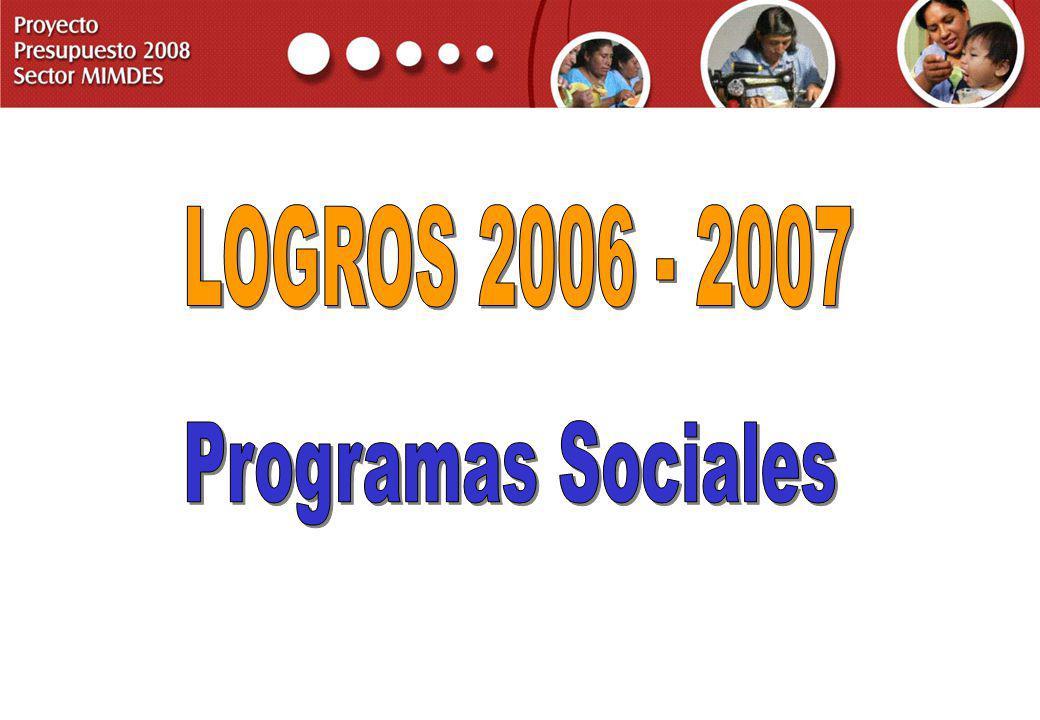 LOGROS 2006 - 2007 Programas Sociales