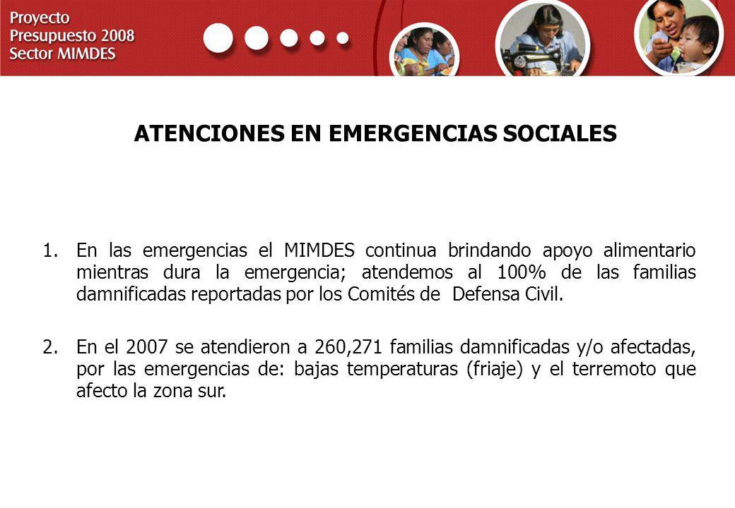 ATENCIONES EN EMERGENCIAS SOCIALES