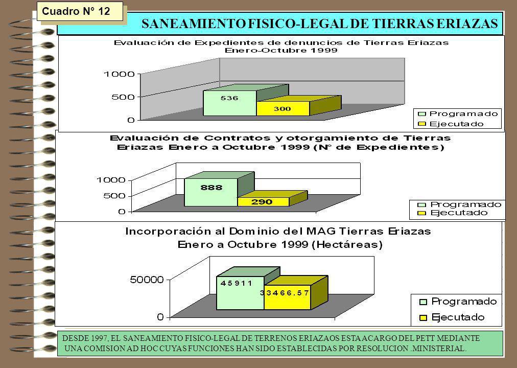 SANEAMIENTO FISICO-LEGAL DE TIERRAS ERIAZAS