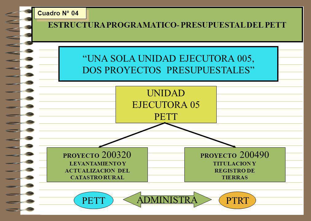 ESTRUCTURA PROGRAMATICO- PRESUPUESTAL DEL PETT