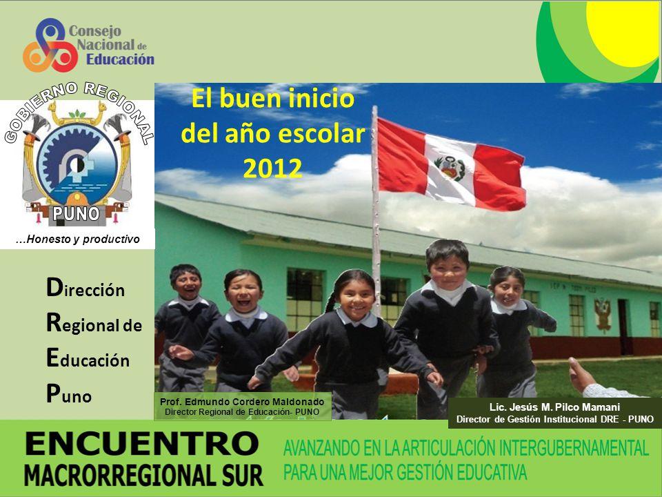 El buen inicio del año escolar 2012