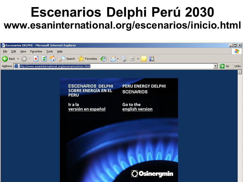 Escenarios Delphi Perú 2030 www. esaninternational
