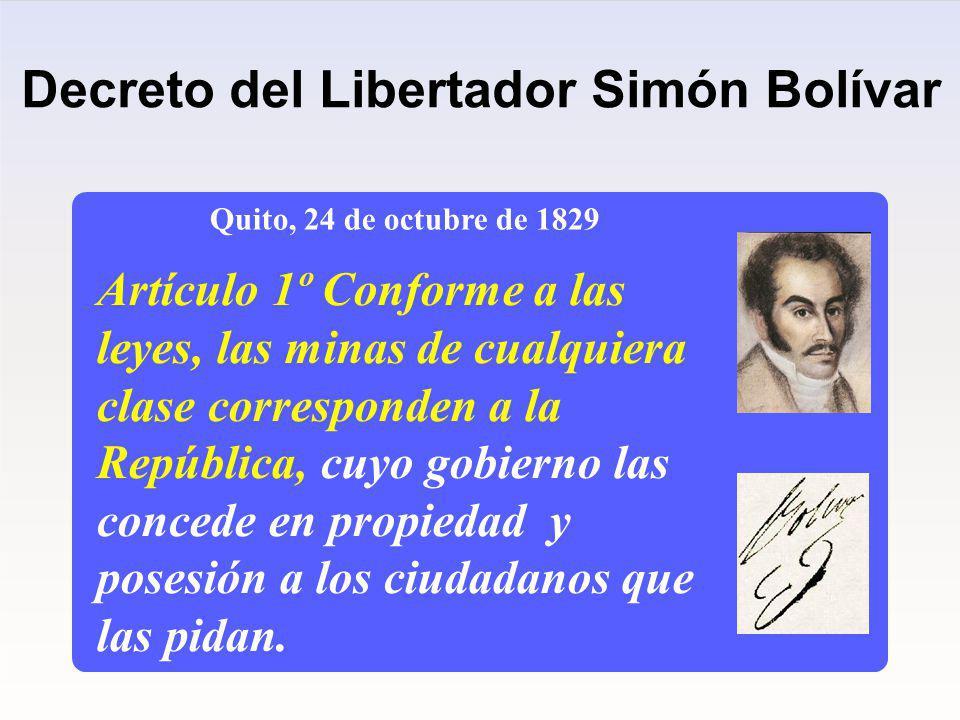 Decreto del Libertador Simón Bolívar