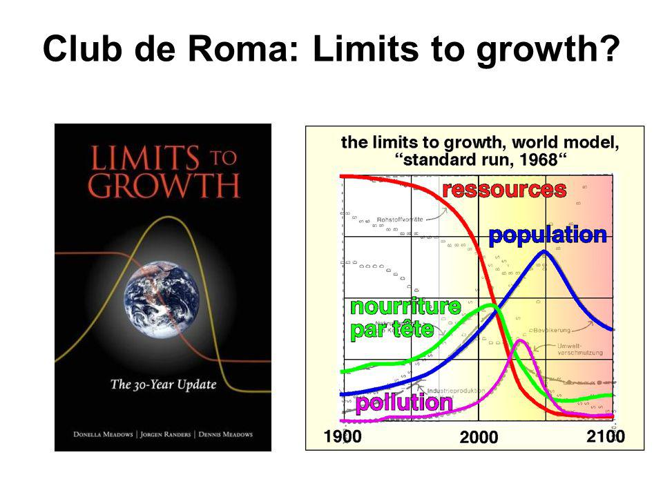 Club de Roma: Limits to growth
