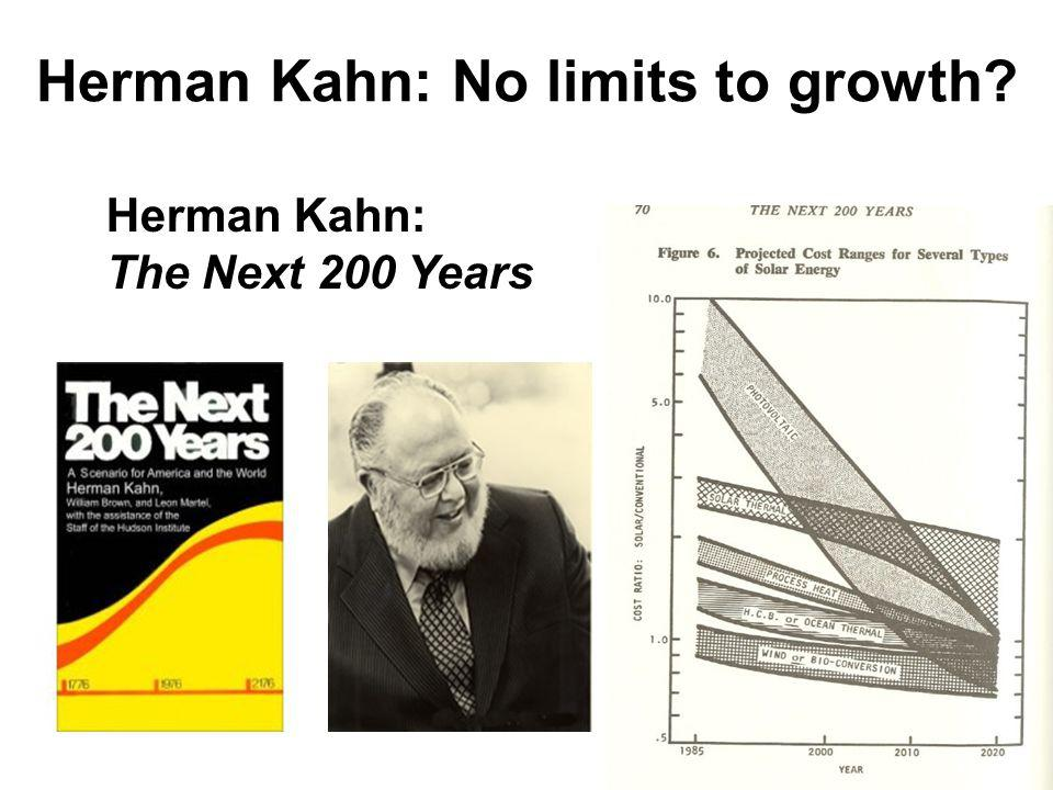 Herman Kahn: No limits to growth