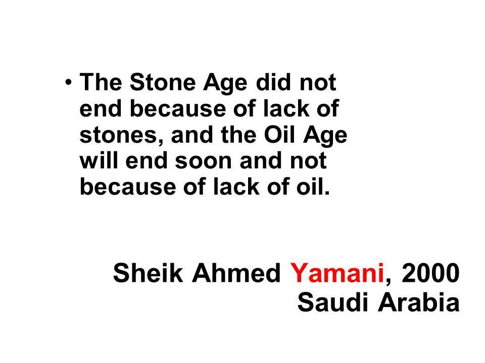 Sheik Ahmed Yamani, 2000 Saudi Arabia