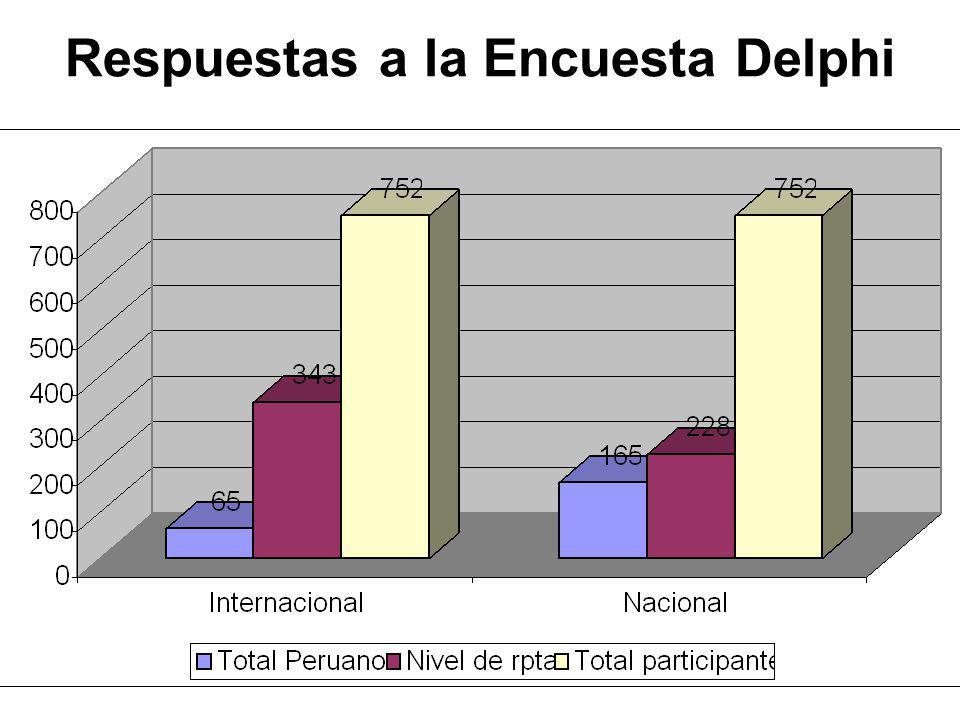 Respuestas a la Encuesta Delphi