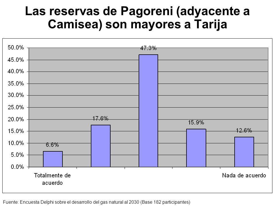 Las reservas de Pagoreni (adyacente a Camisea) son mayores a Tarija