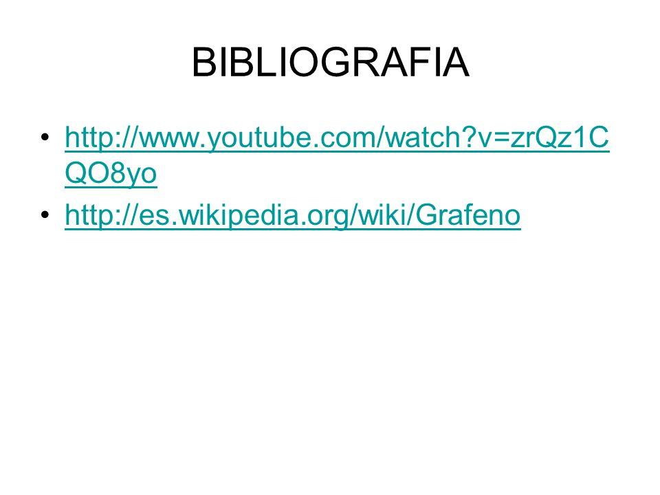 BIBLIOGRAFIA http://www.youtube.com/watch v=zrQz1CQO8yo