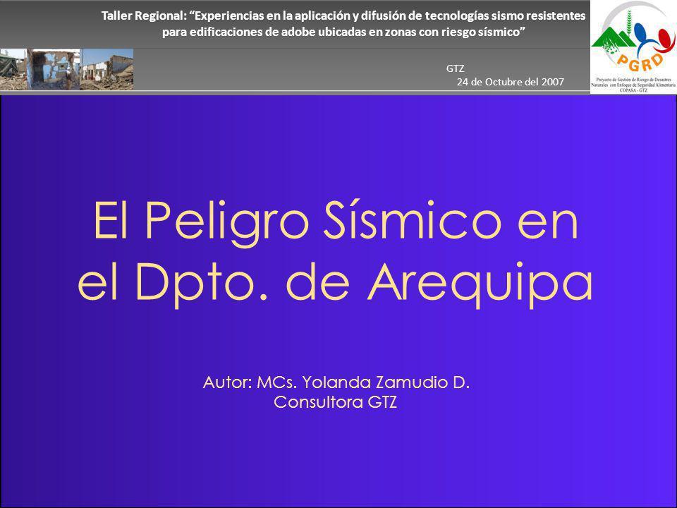 El Peligro Sísmico en el Dpto. de Arequipa