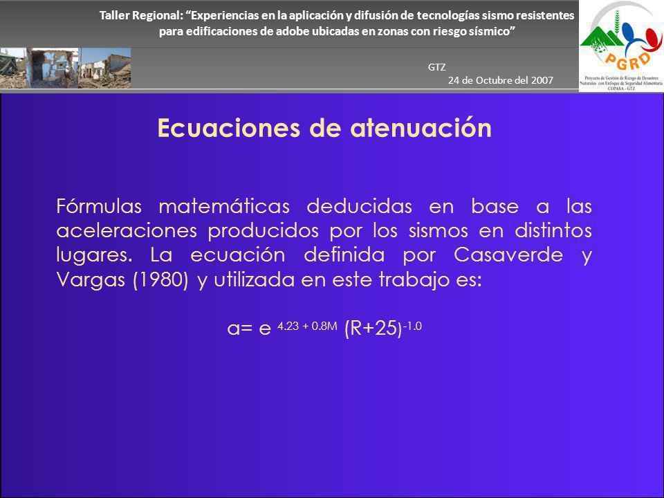 Ecuaciones de atenuación