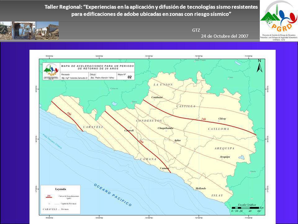Taller Regional: Experiencias en la aplicación y difusión de tecnologías sismo resistentes para edificaciones de adobe ubicadas en zonas con riesgo sísmico