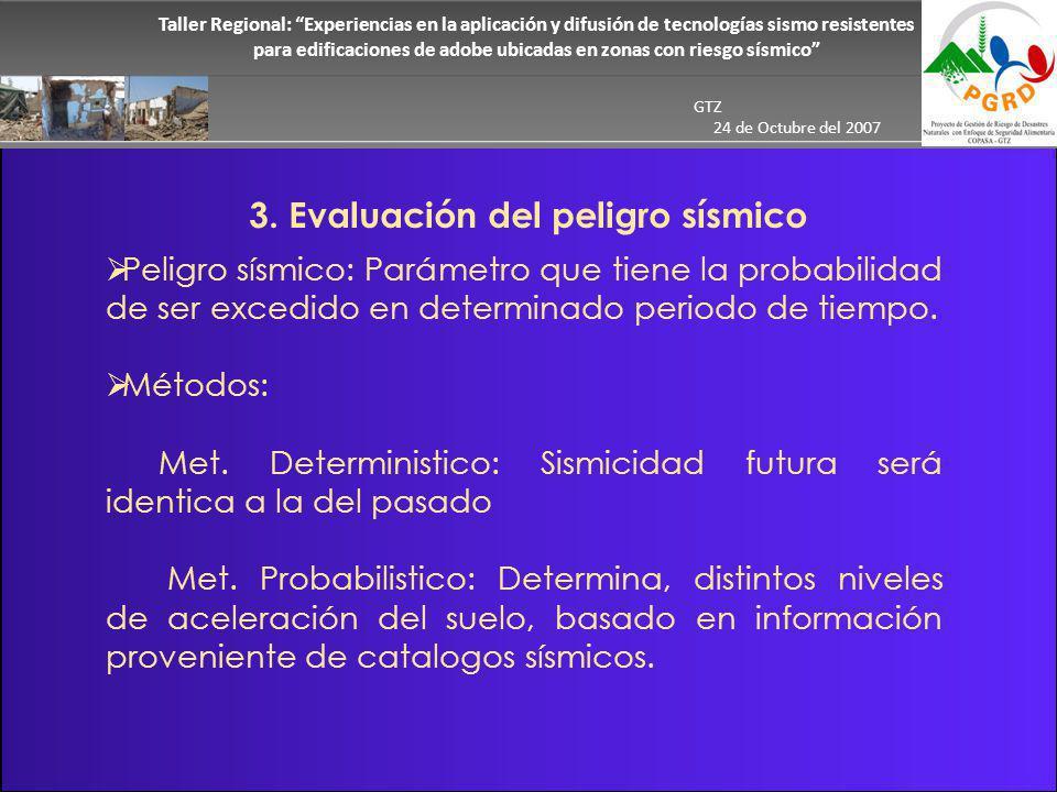 3. Evaluación del peligro sísmico