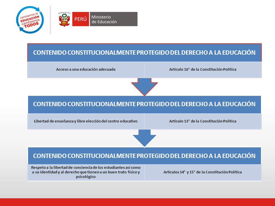 CONTENIDO CONSTITUCIONALMENTE PROTEGIDO DEL DERECHO A LA EDUCACIÓN