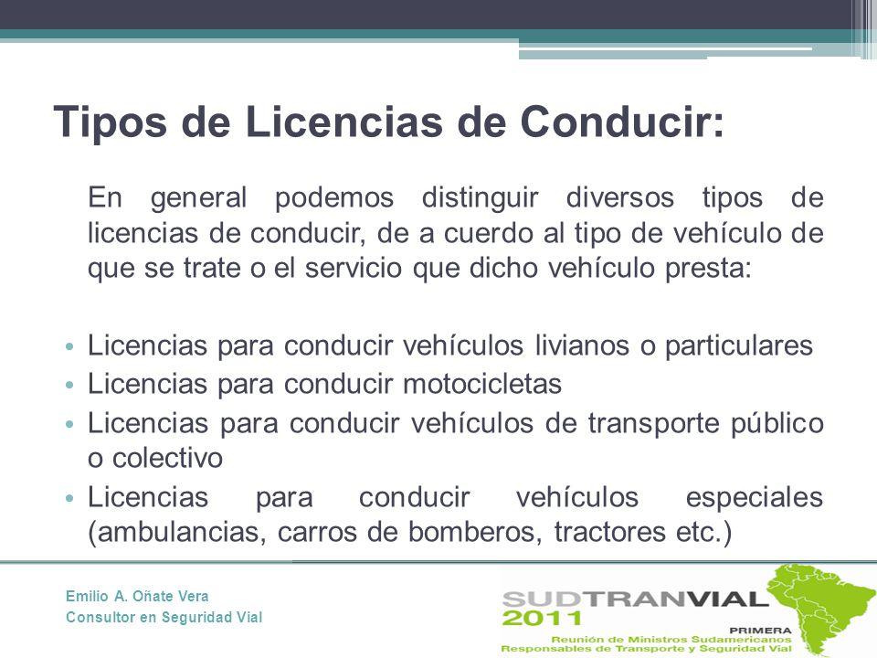 Tipos de Licencias de Conducir: