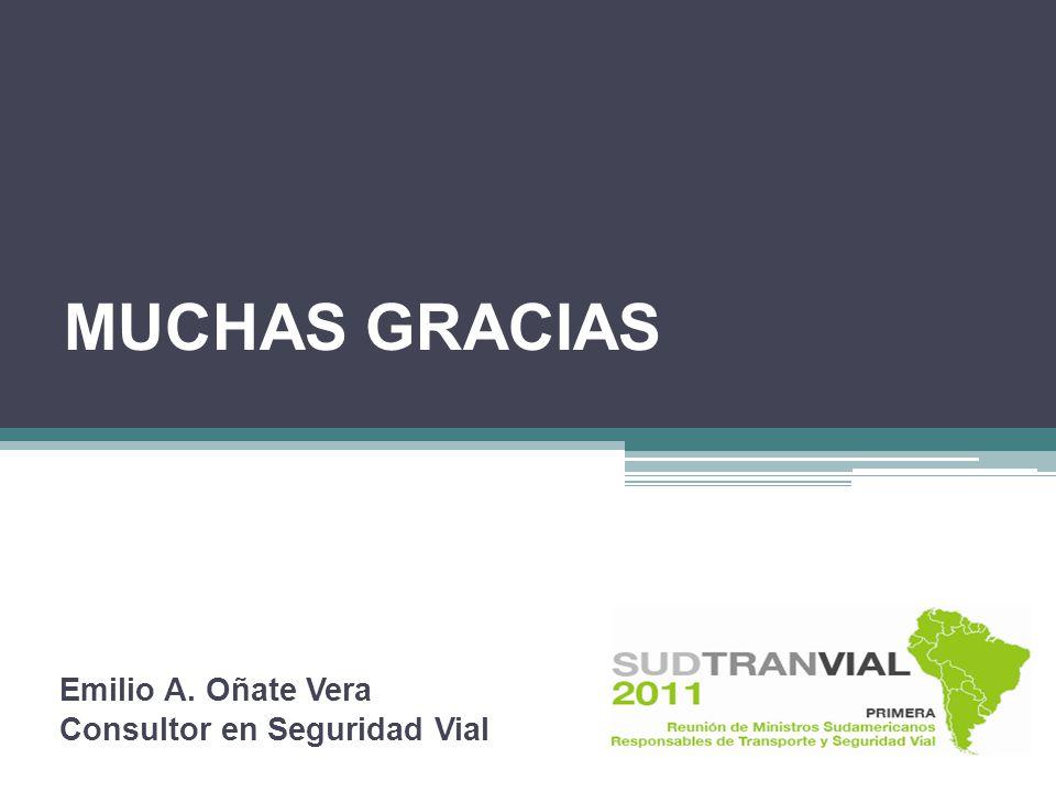 Emilio A. Oñate Vera Consultor en Seguridad Vial