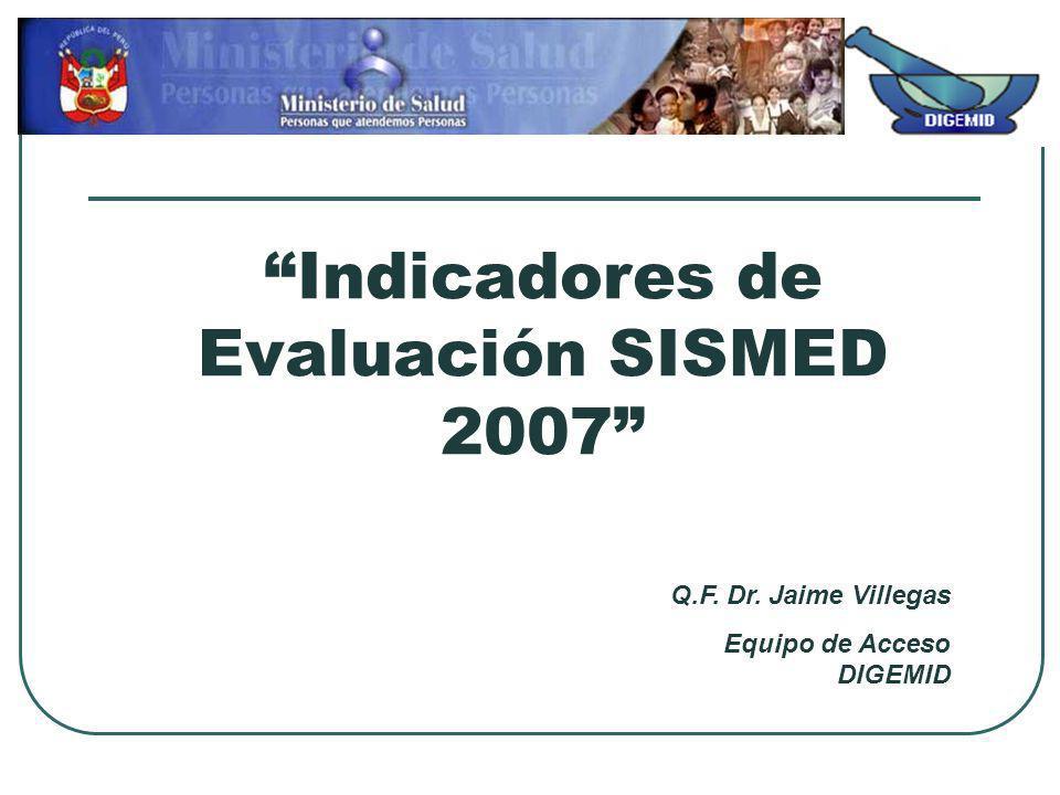 Indicadores de Evaluación SISMED 2007