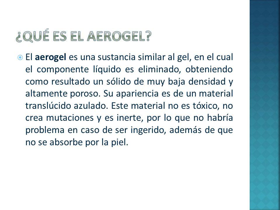 ¿Qué es el aerogel