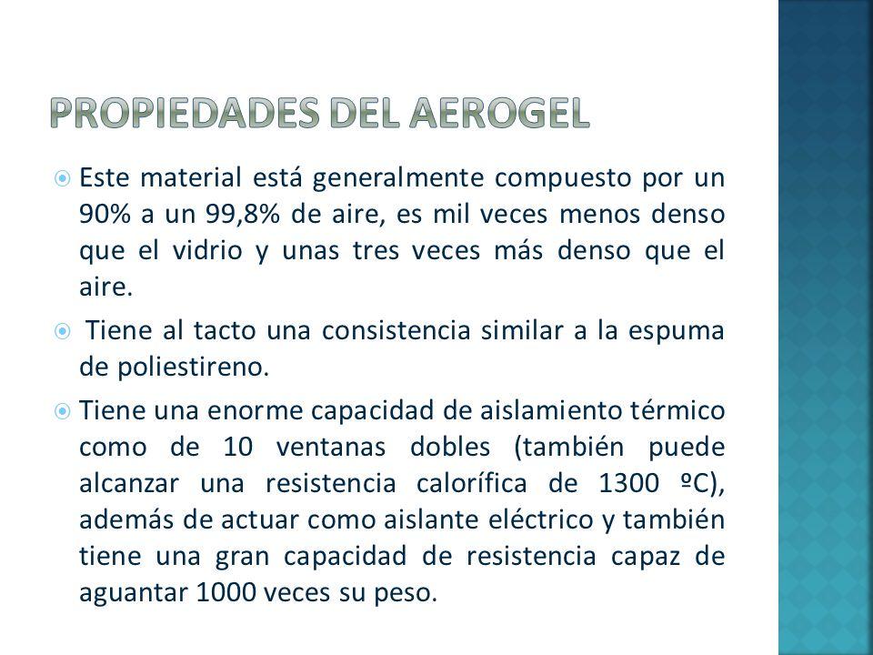 Propiedades del aerogel