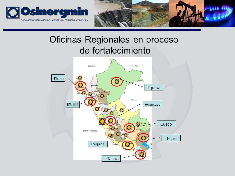 Oficinas Regionales en proceso
