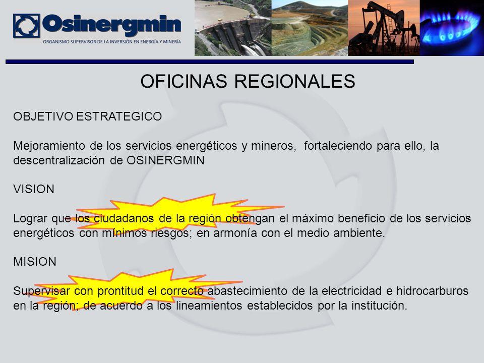 OFICINAS REGIONALES OBJETIVO ESTRATEGICO