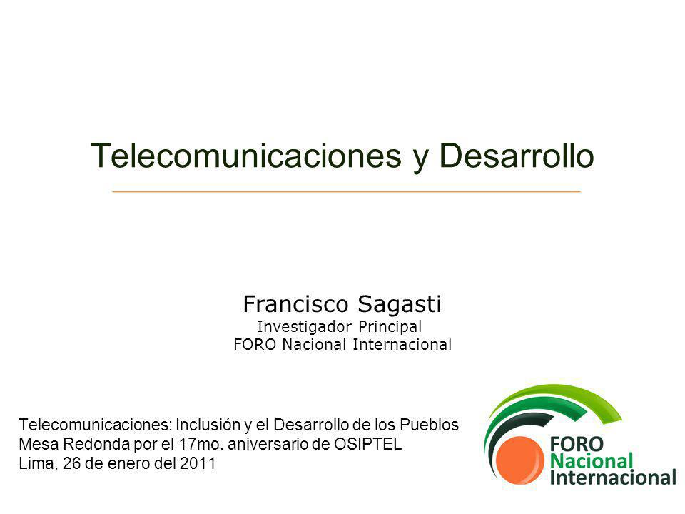 Telecomunicaciones y Desarrollo