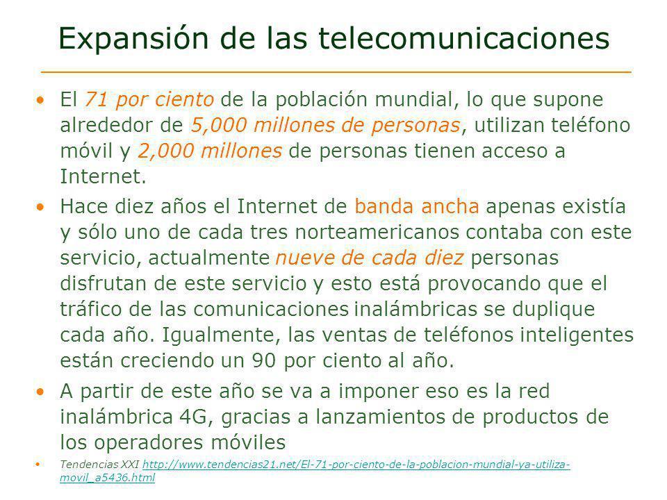 Expansión de las telecomunicaciones