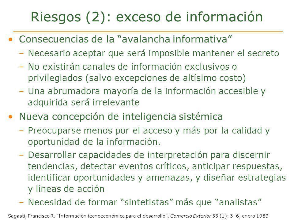 Riesgos (2): exceso de información