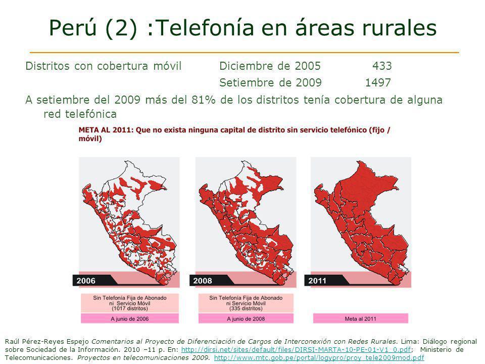 Perú (2) :Telefonía en áreas rurales