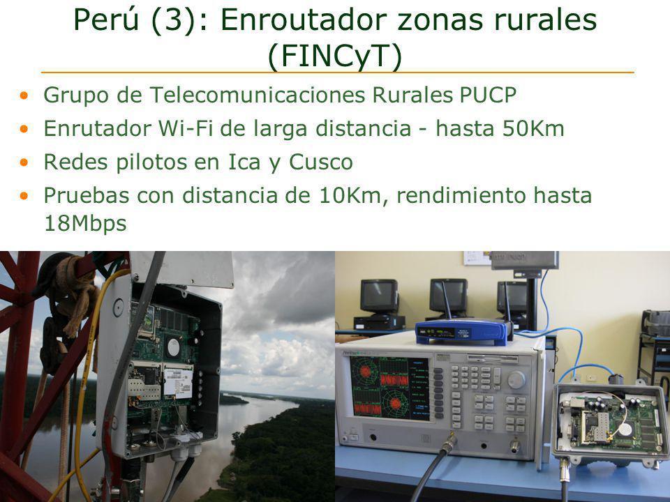 Perú (3): Enroutador zonas rurales (FINCyT)
