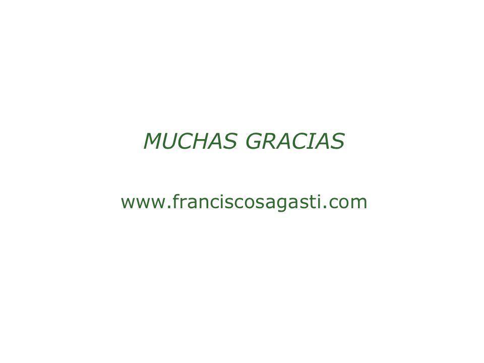 MUCHAS GRACIAS www.franciscosagasti.com