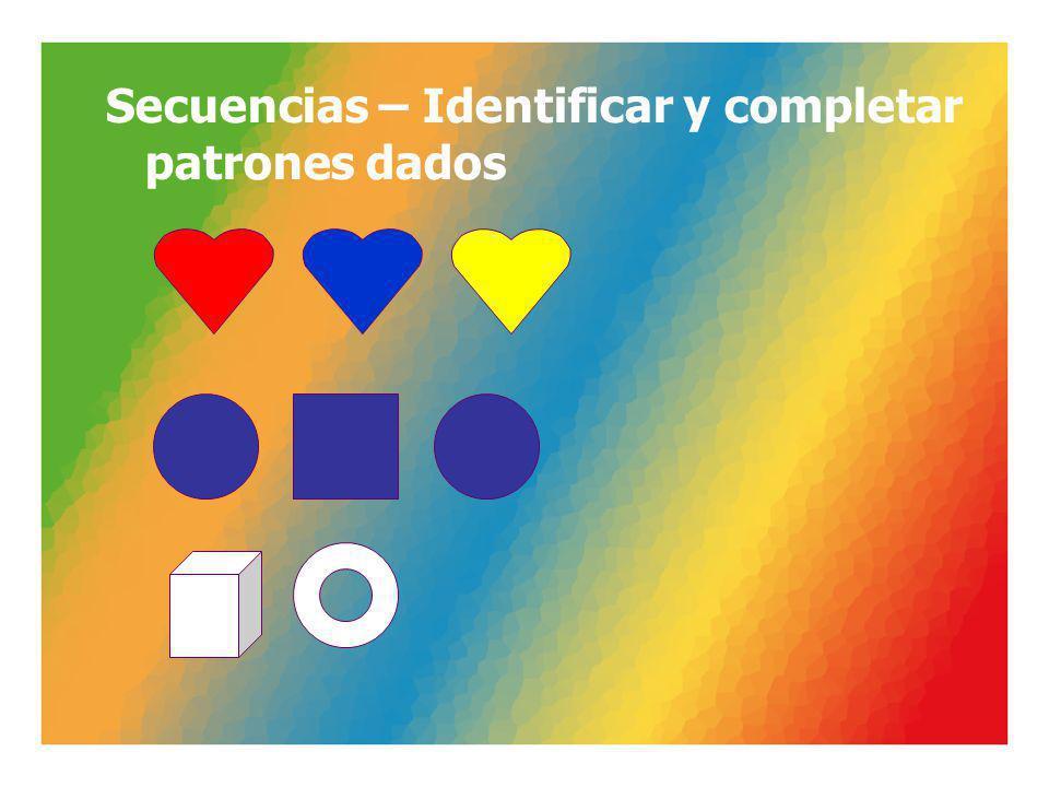 Secuencias – Identificar y completar patrones dados