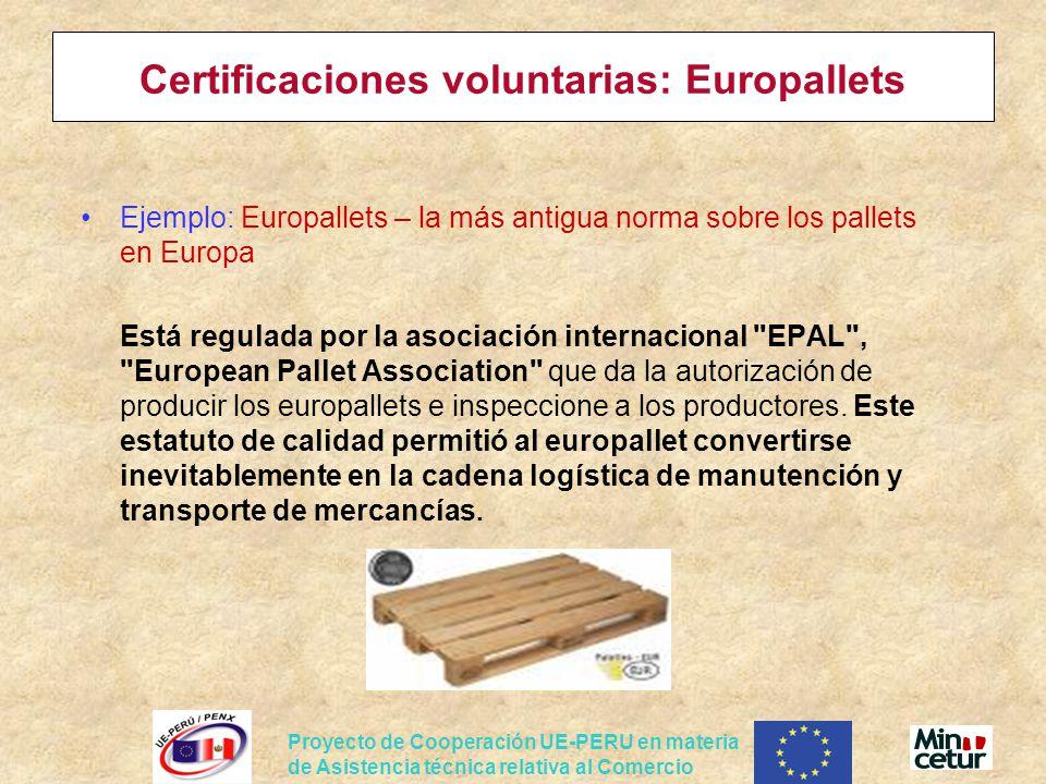 Certificaciones voluntarias: Europallets