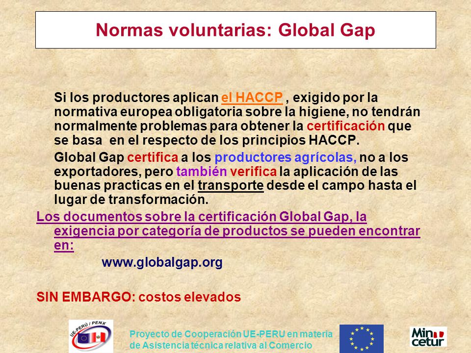 Normas voluntarias: Global Gap
