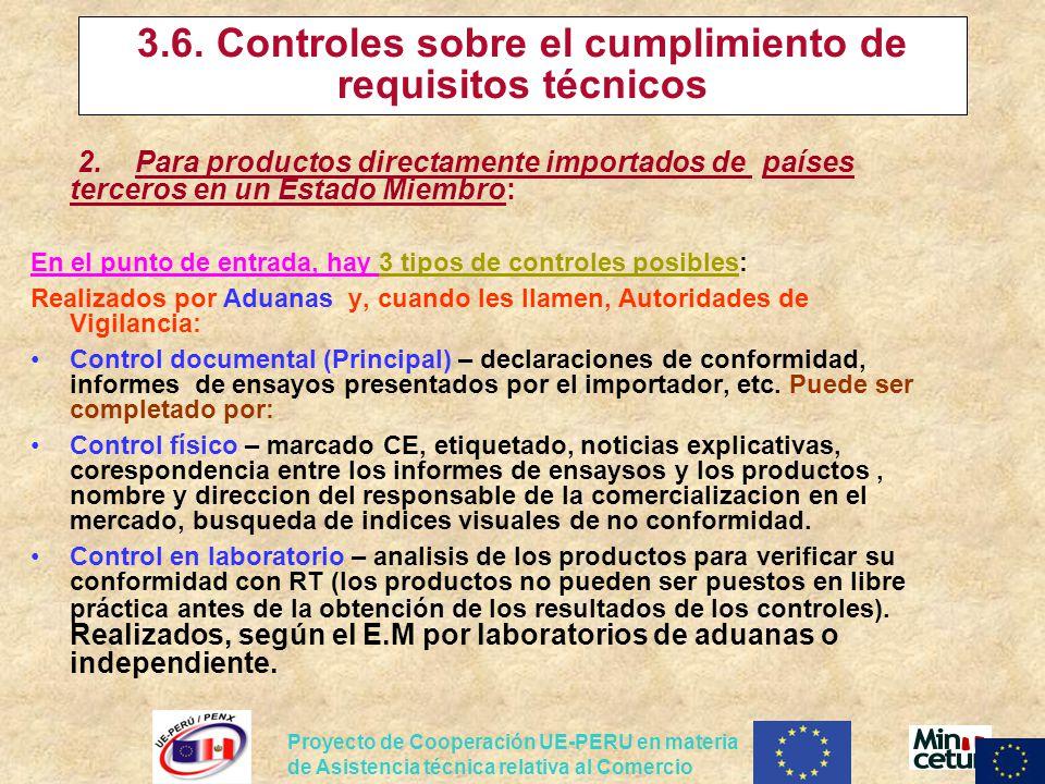 3.6. Controles sobre el cumplimiento de requisitos técnicos