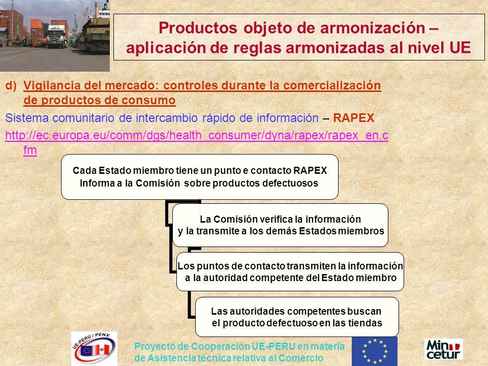 Productos objeto de armonización – aplicación de reglas armonizadas al nivel UE